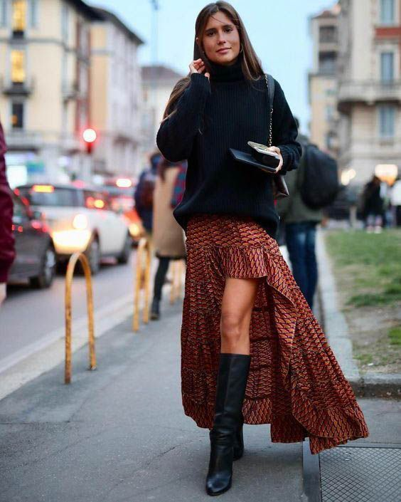 Knitted Sweater / Fall Street Style Fashion / #fallfashion #fashion #womensfashion ...  #gypsysetup