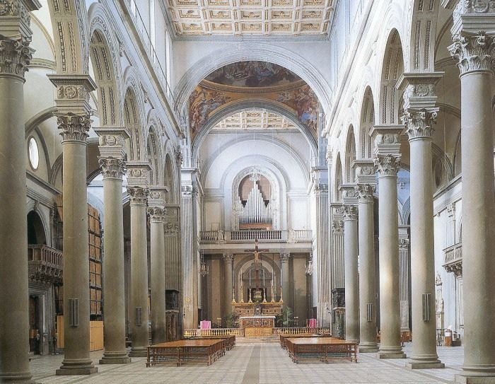 This is the interior of the church of san lorenzo in florence designed by brunelleschi he used - Interior designer firenze ...