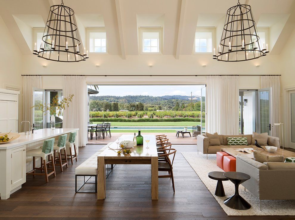 Dormer interior design ideas dining room contemporary with for Open concept interior design
