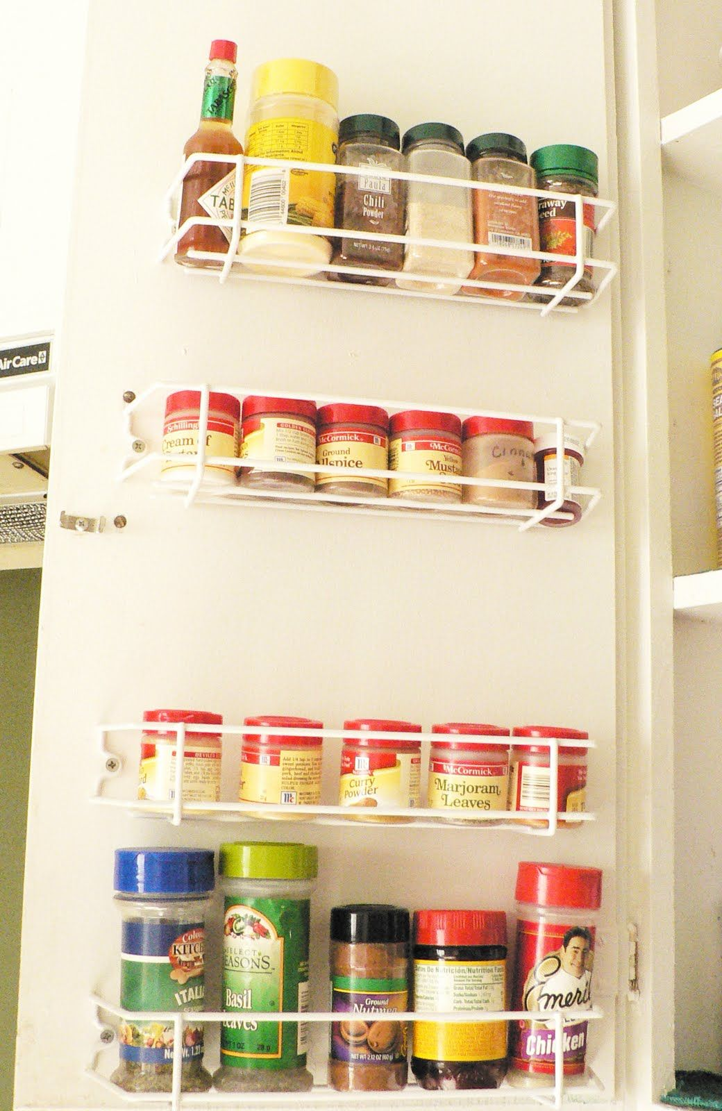 Spice Racks For Kitchen Cabinets Cabinet Door Spice Rack Spice