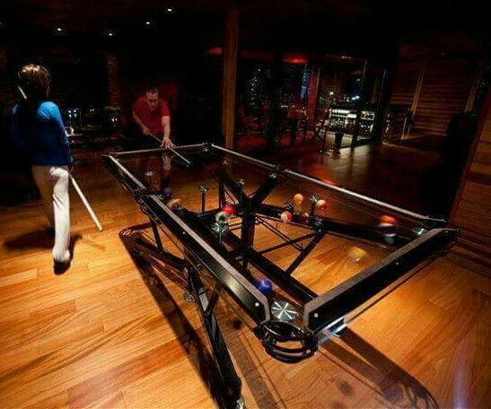 Bad Ass Clear Pool Table For The Home Pinterest Pool Table - Clear pool table