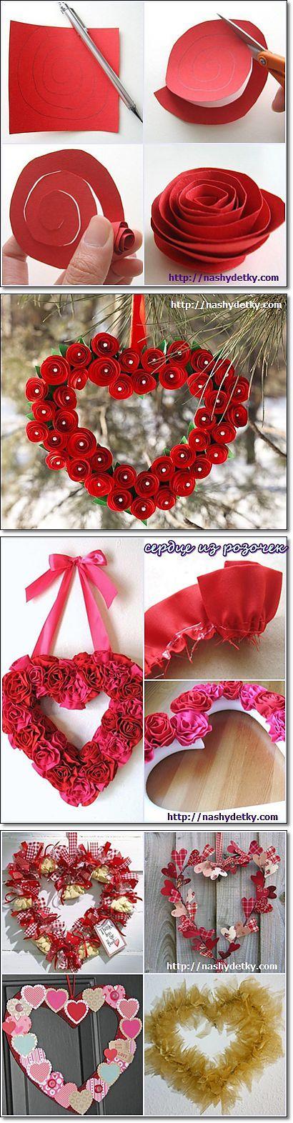 Букет из конфет сердце, венок сердце – милый подарок и декор   СВОИМИ РУКАМИ   Постила