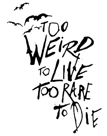 Fear and Loathing quote drawn by Ralph Steadman | halloween