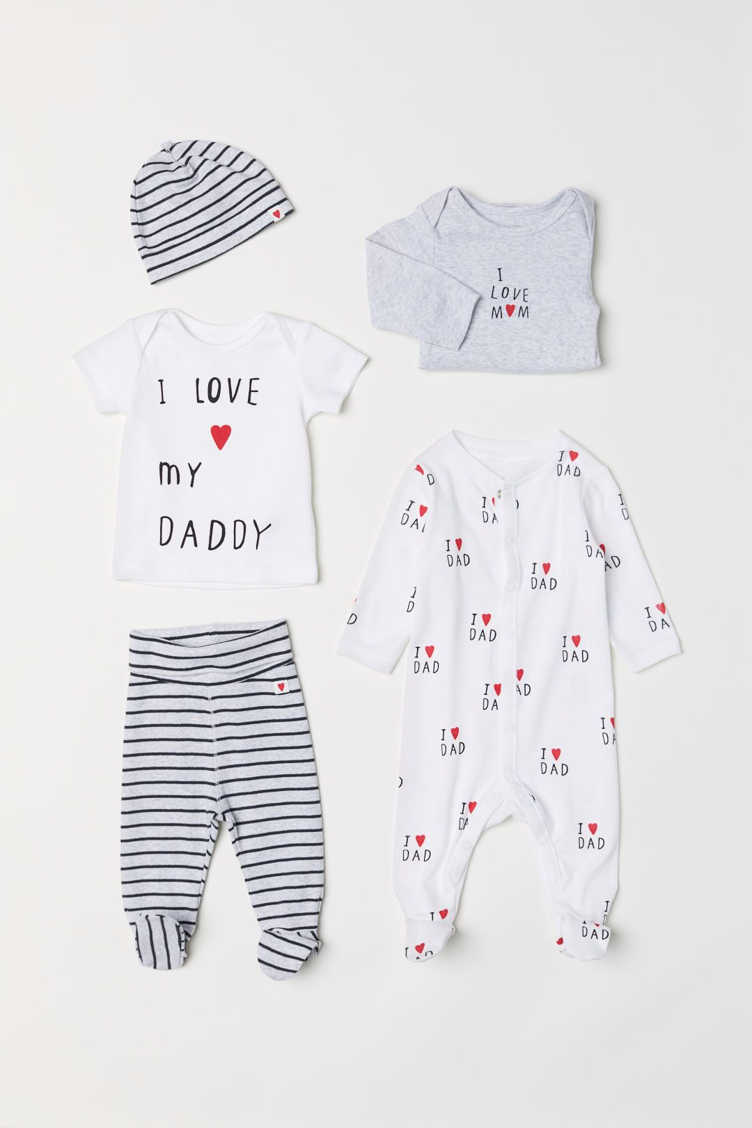 Newborn Baby Short Sleeve Bodysuit I Love Math for Ever Kid Pajamas