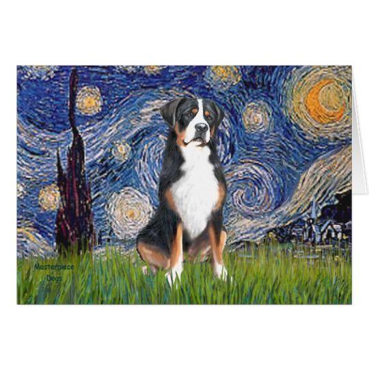 Starry Night Greater Swiss Mountain Dog