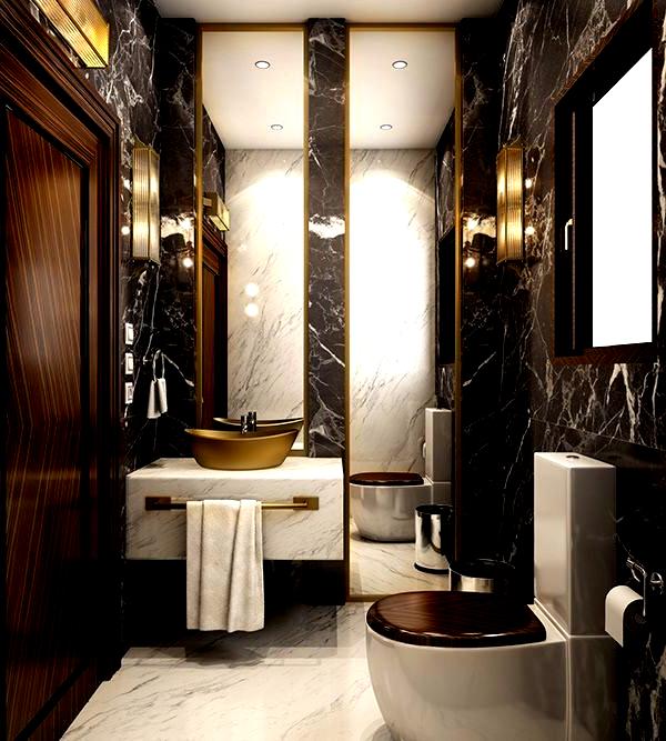 Modern Luxury Bathroom On Behance Luxurybathfixtures In 2020 Modern Luxury Bathroom Glamorous Bathroom Bathroom Design Luxury