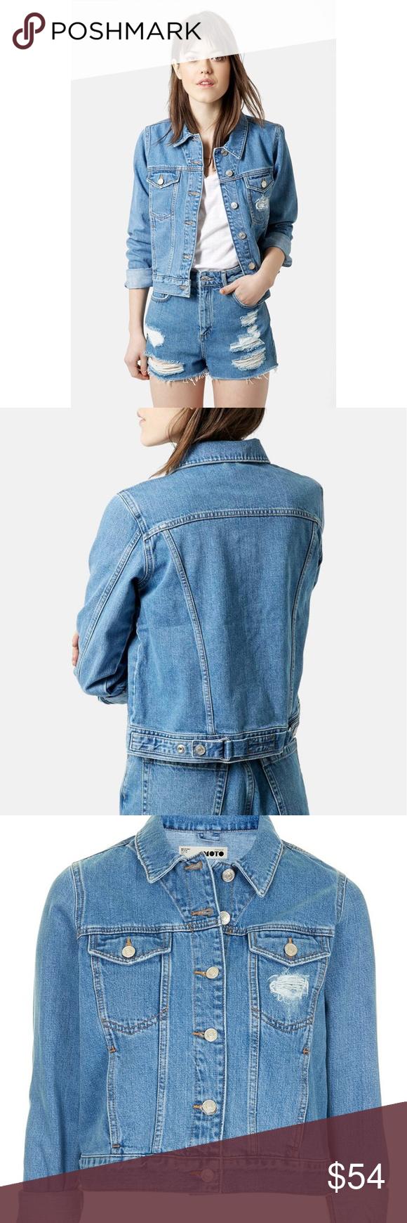 Moto 'Tilda' Blue Denim Jacket Make every day