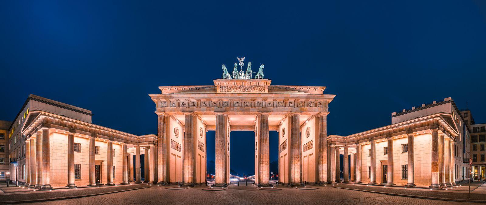 Berlin Brandenburger Tor Closeup Panorama Visit Germany Panorama Berlin