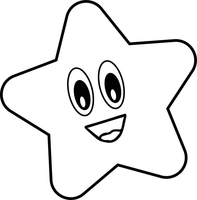 Very Happy Star Coloring Page Star Coloring Pages