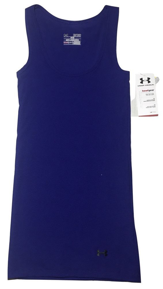 4f22d856661d6 Under Armour Women s 1235548 NWT North Star Ribbed Tank Top Size XS Fitted  UA