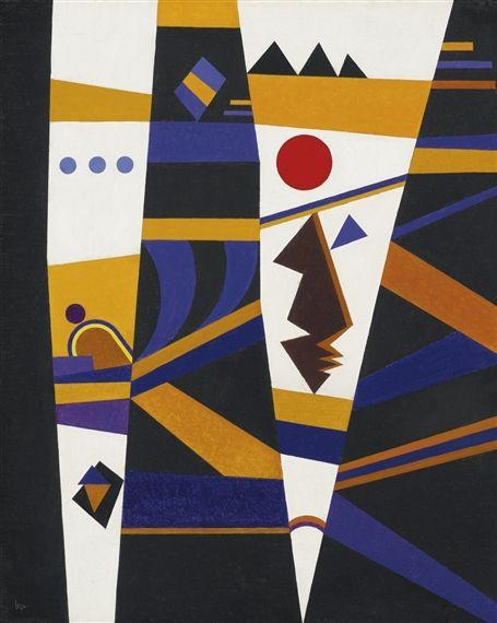 Wassily Kandinsky - BINDUNG (BINDING), 1932, Oil...