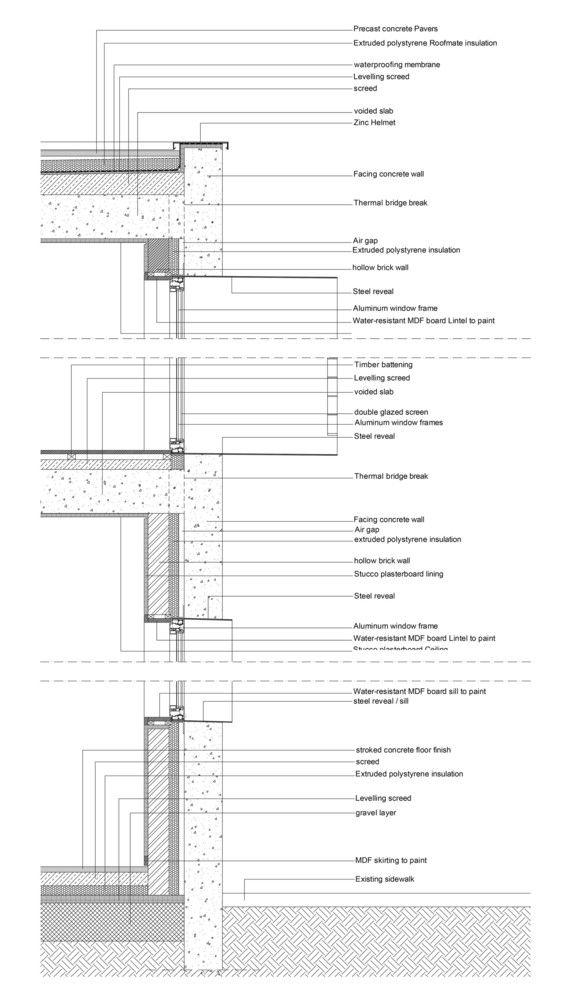 Gallery Of 40 Impressive Details Using Concrete 30 Concrete Facade Construction Details Architecture Wall Section Detail