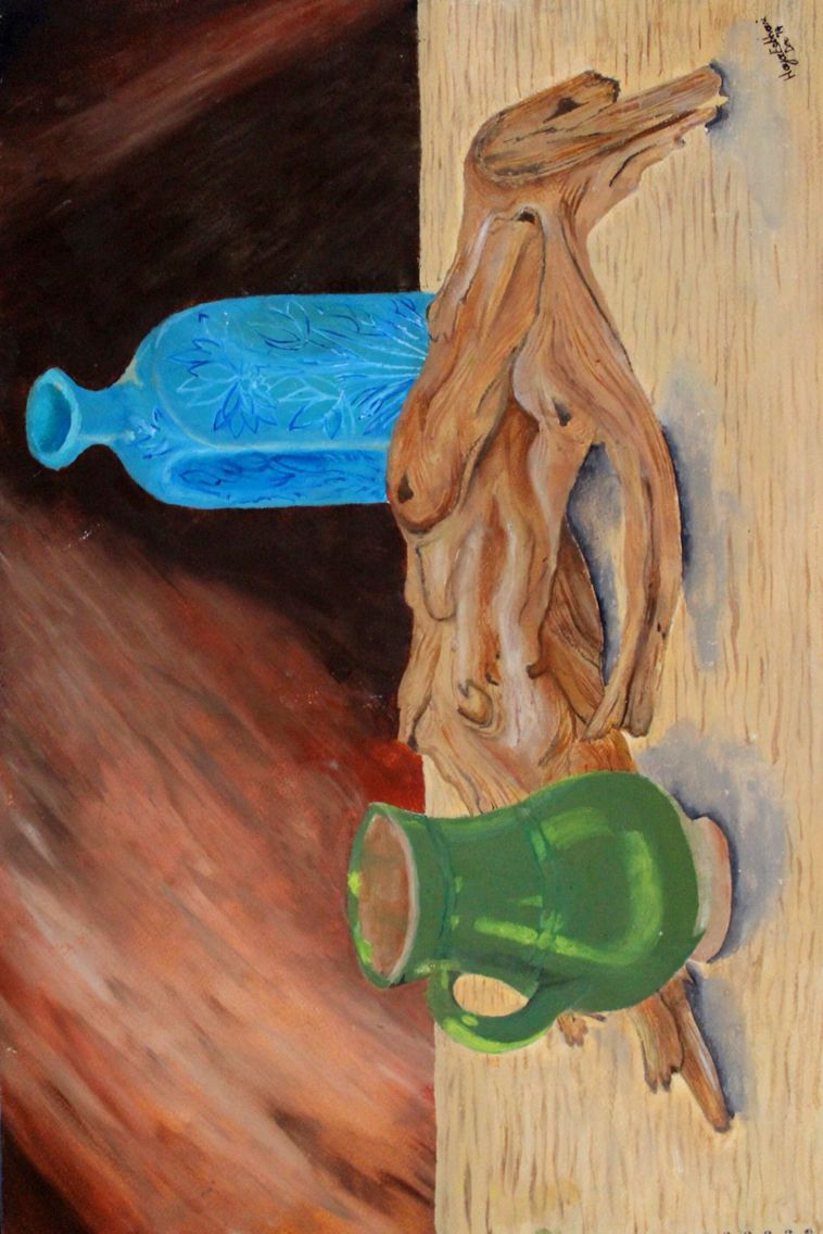 Still life painting I made in 2014. #stilllife #oilpainting #artforsale #pakistan #artstudent #painting #art #paintonwood #bottle #background #paint #stilllifedrawing #sketch