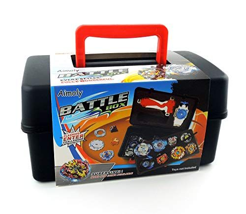Aimoly Battle Tops Case Storage Carrying Box for Beyblade Burst Battling Games