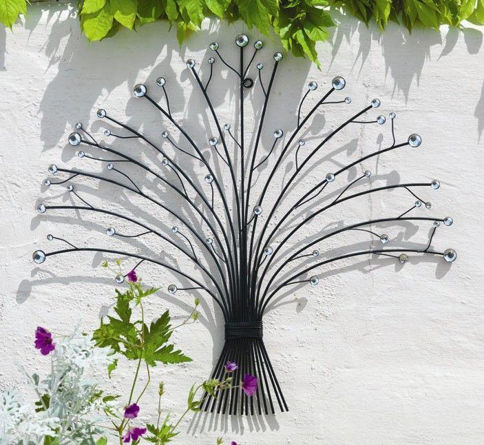 Outdoor Metal Glass Bead Bouquet Garden Wall Art (H55cm)  sc 1 st  Pinterest & Outdoor Metal Glass Bead Bouquet Garden Wall Art (H55cm) | Beaded ...