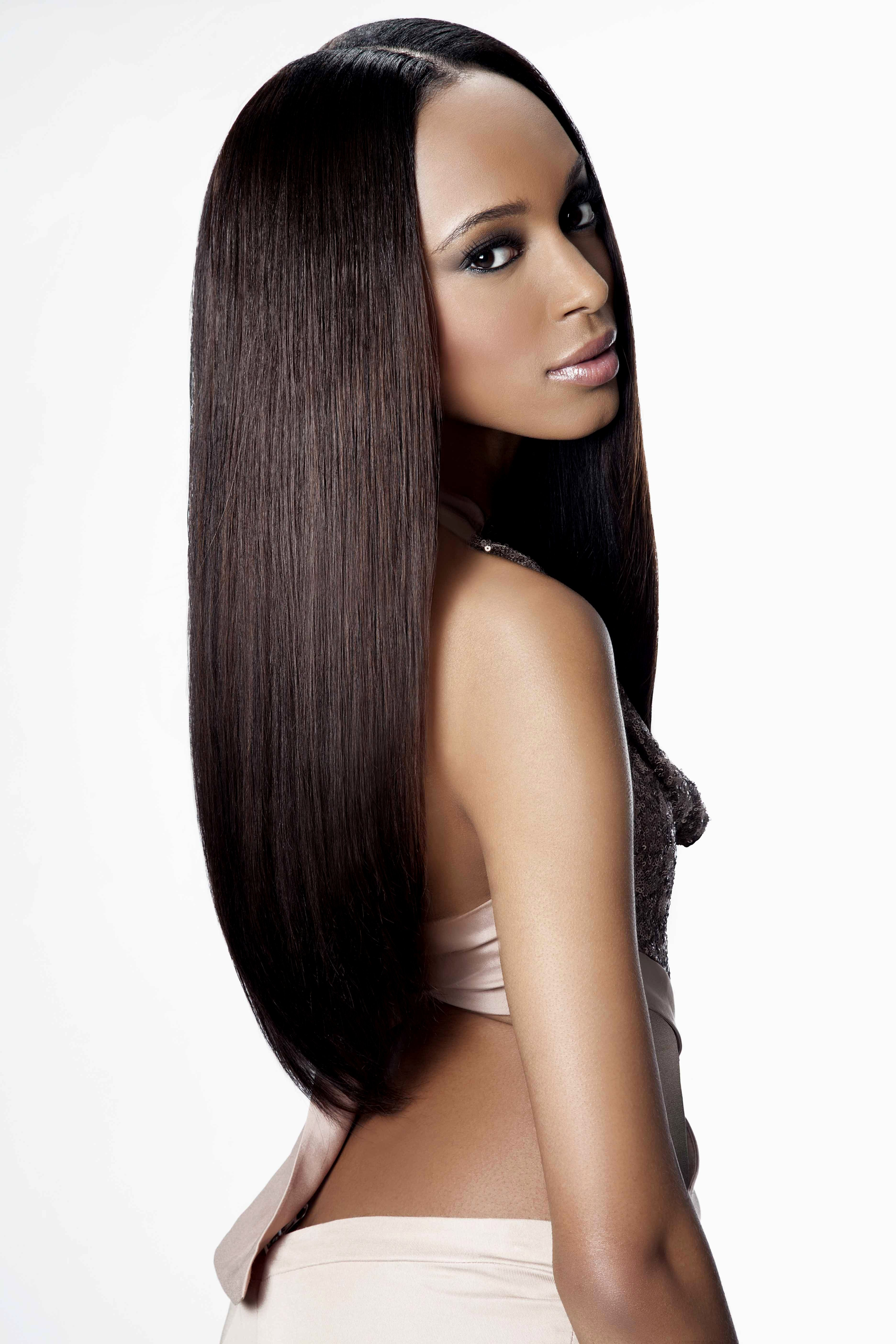 Straight Hair Weave Hairstyles Tissages De Cheveux Pinterest