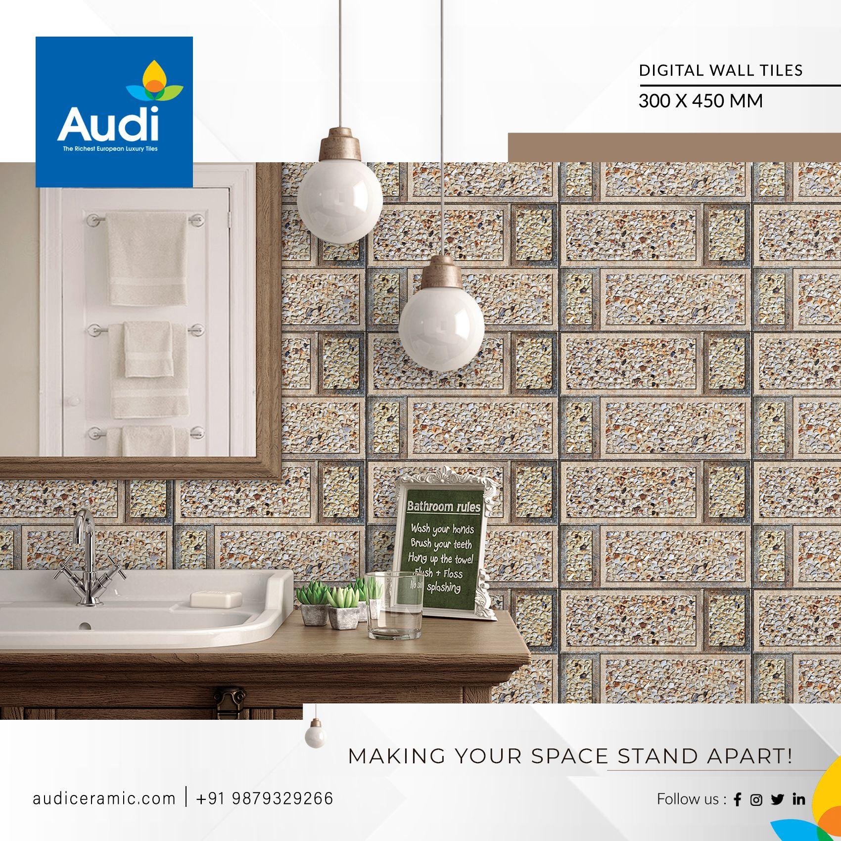 Making Your Space Stand Apart Audiceramic Homedecor Ceramictiles Walltiles Brand Interior Besttiles Wall Tiles Framed Bathroom Mirror Ceramic Tiles