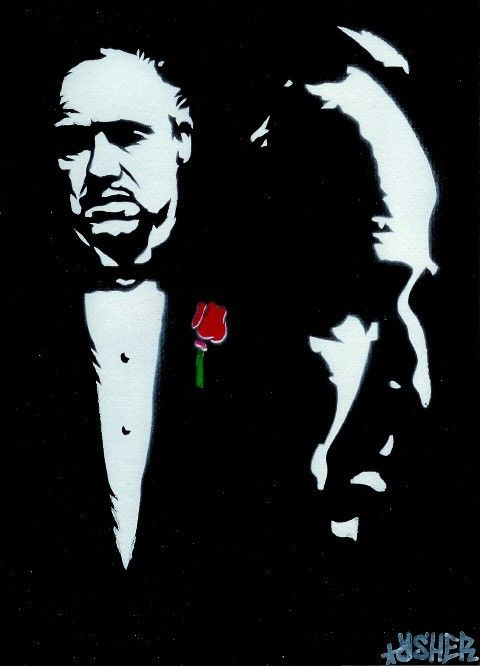 8 5x11 The GodFather (Marlon Brando) Stencil Art Print