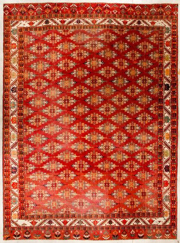 Antique Enormous Main Yomut Yomud Turkoman Rug 12x16