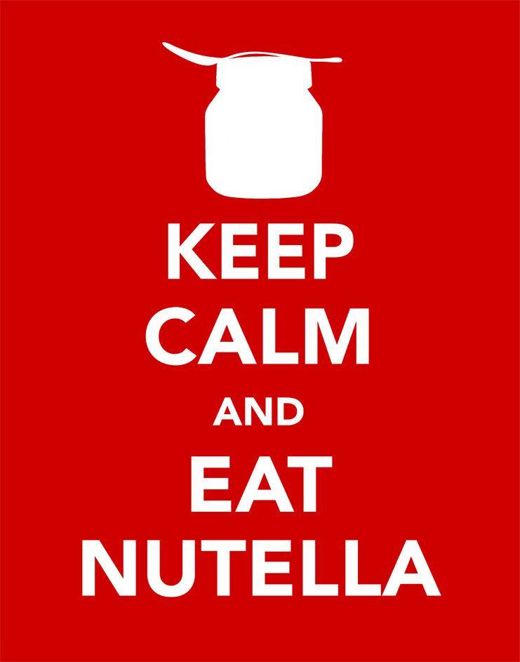Keep Calm and Eat Nutella, 11x14 Custom Wording Keep Calm Prints, Custom Colors  Sizes. $9.99, via Etsy.