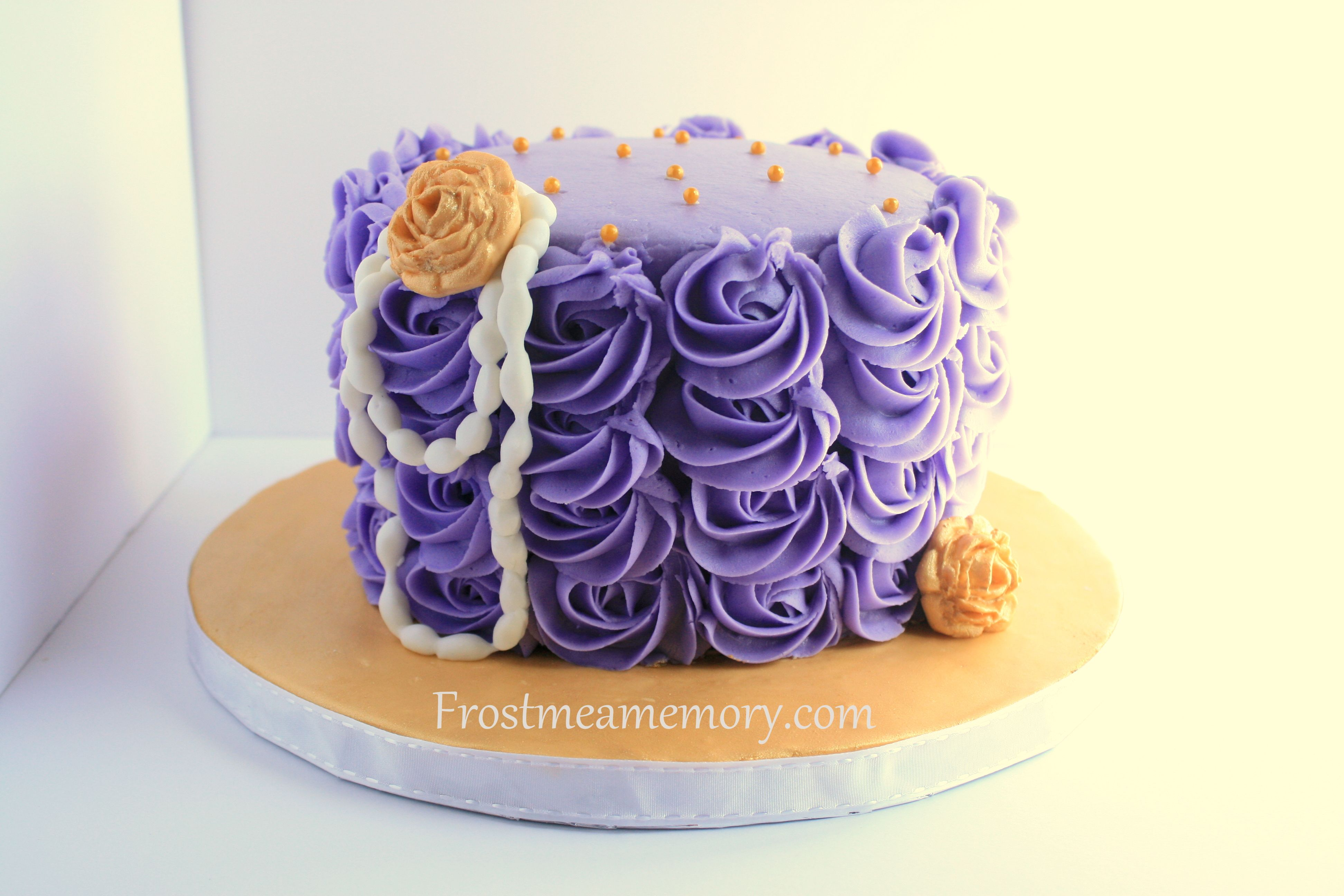 Purple And Gold Simple Birthday Cake With Images Simple