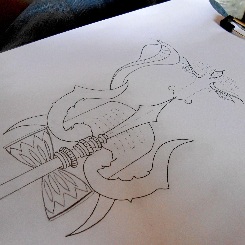 Trishul damru trinity shivling lingam loved angry sketchboard sketchfortattoo drawing draw pencilsketch pencilwork pencil sketchbyravi