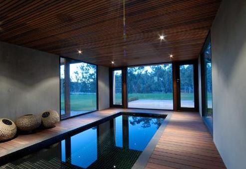 Pool Love Modern Indoor Swimming Pool House Wooden Decorating Part 33