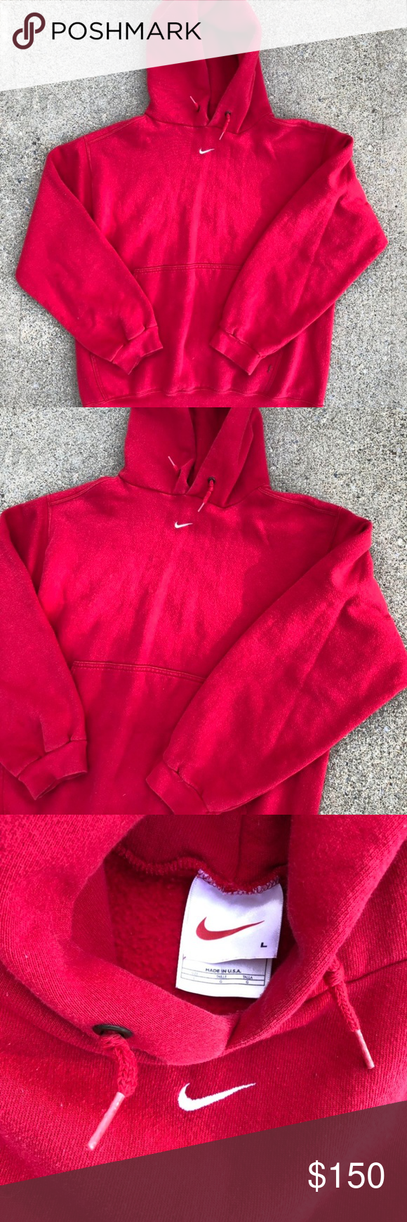 Vintage 90s Nike Hoodie As Seen On Travis Scott Great Condition Fire W Cargos Or Blue Jeans If You Re Looking For Vintage Nike Hoodie Clothes Design Hoodies