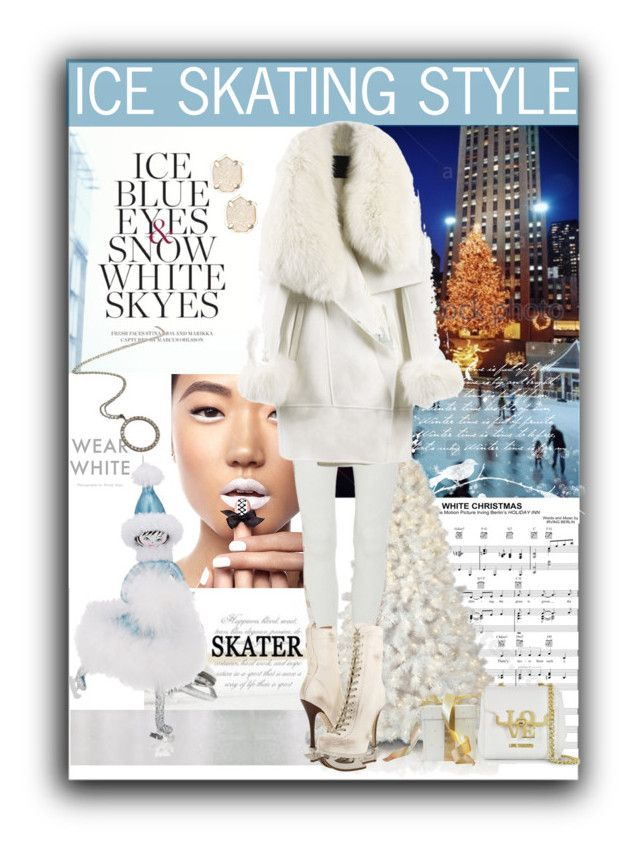"""Ice Skating in Style"" by fassionista ❤ liked on Polyvore featuring Moa', Rodarte, Dsquared2, Moschino, Soffieria de Carlini, Kendra Scott and WithChic"