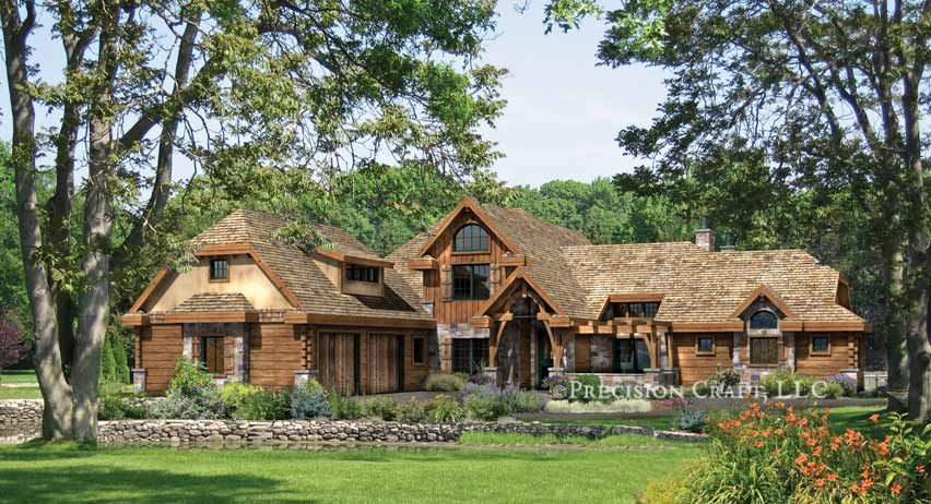 5 Fantastic French Country Log Homes Under 1m Home