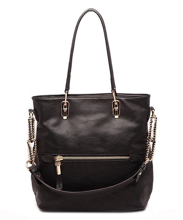 d5db368df886 Look at this MKF Collection Black Venice Elegant Tote on  zulily today!