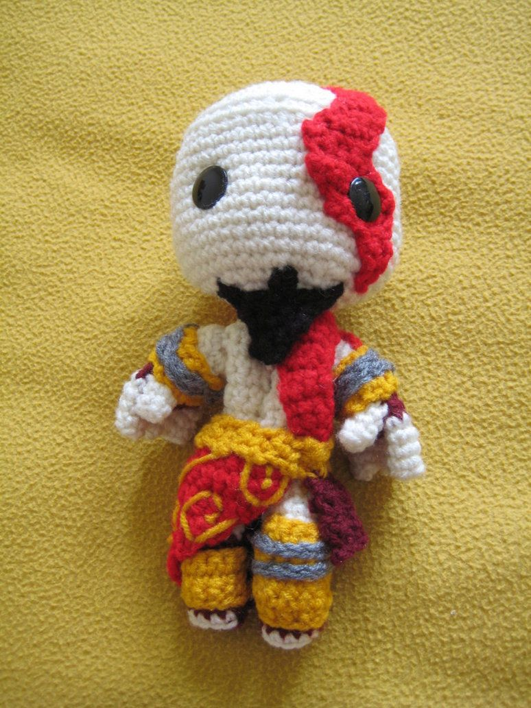 Kratos Sackboy (video instructions) | Crochet Amigurumi Dolls ...