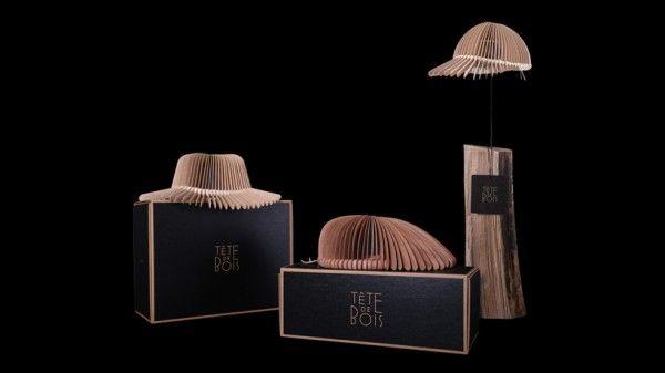 Wooden Hats by Italian Designer Tete De Bois