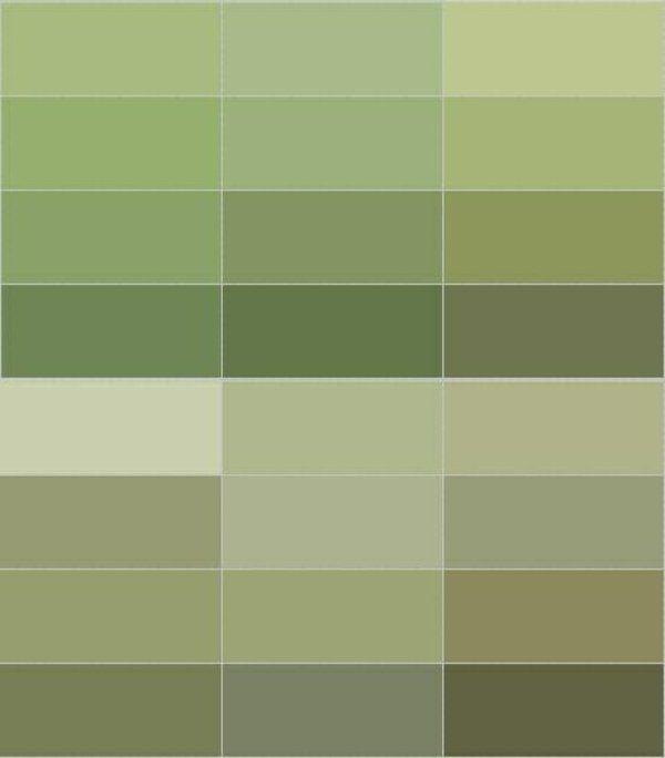 Farbpalette Wand: Wandfarbe Olivgrün Entspannt Die Sinne Und Kämpft Gegen