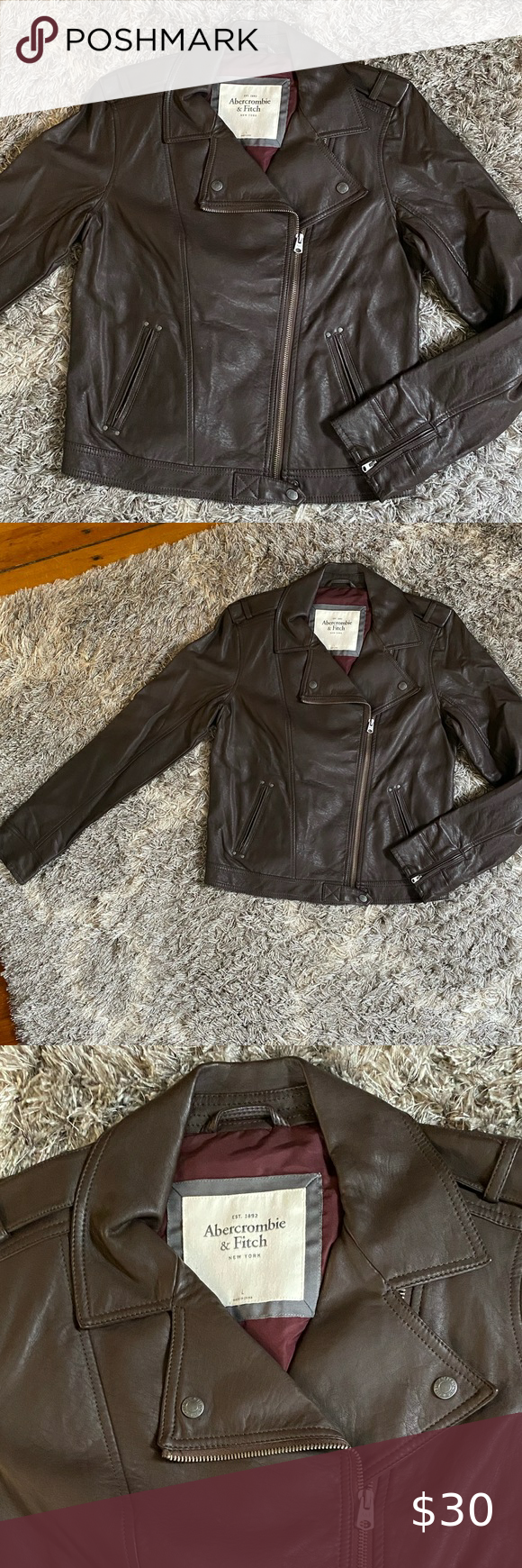 Chocolate Brown Faux Leather Jacket Abercrombie Faux Leather Jackets Leather Jacket Brown Faux Leather Jacket [ 1740 x 580 Pixel ]