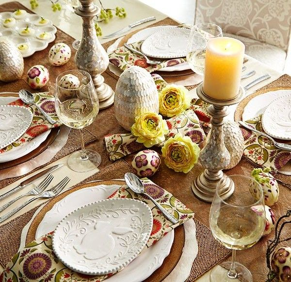 Easter Table In Rustic Style
