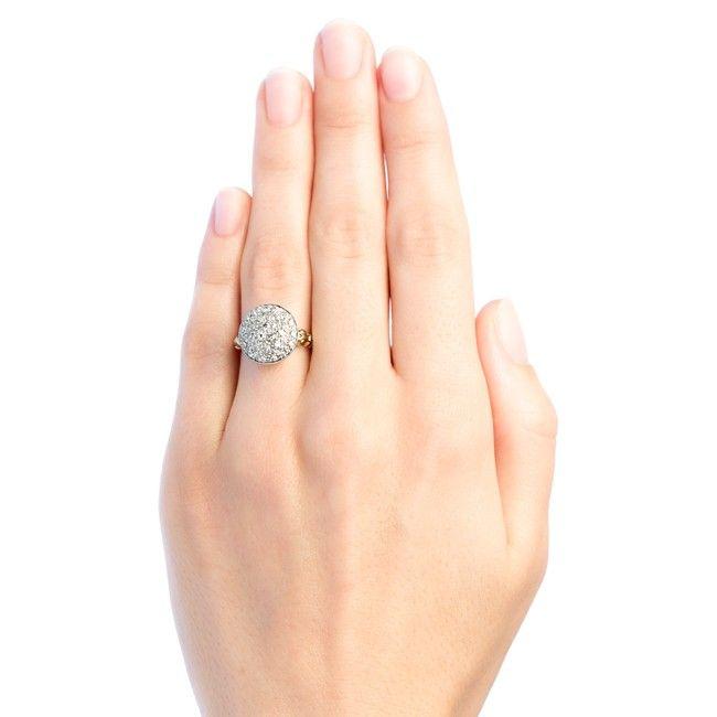 Hartford vintage diamond cluster ring from Trumpet & Horn