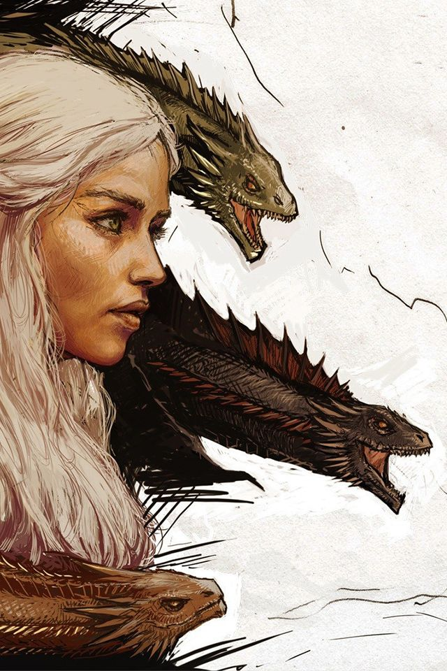 Game Of Thrones Drawings 3 Mother Dragons Daenerys Targaryen