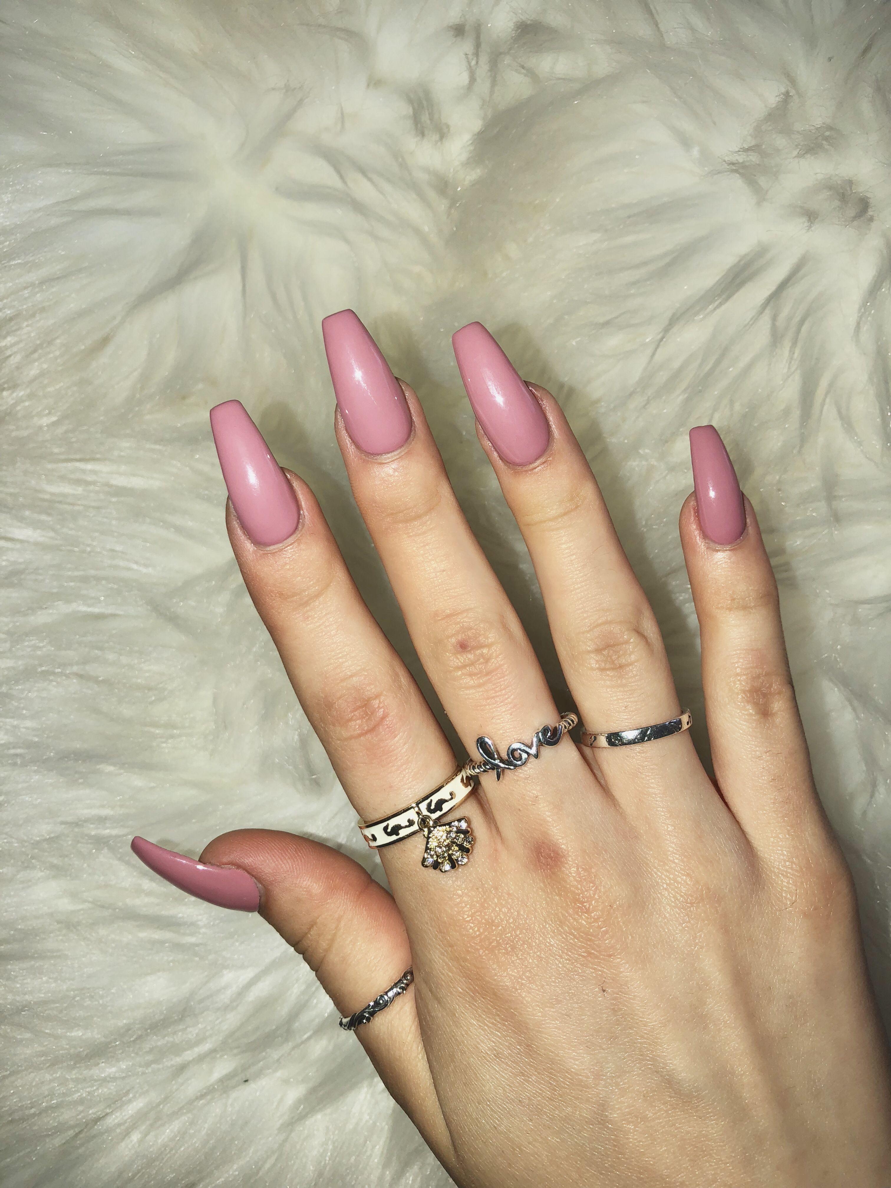Dusty Pink Nails Mauve Nails Dusty Pink Nails Rose Pink Nails