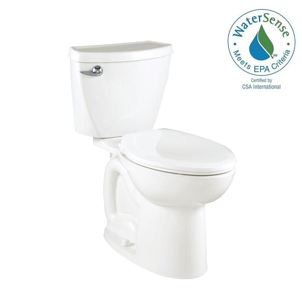 American Standard Cadet 3 Powerwash Compact Tall Height 2-piece 1.28 GPF Elongated Toilet in White
