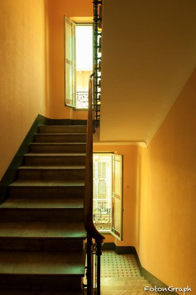 The stairs of a typical house of Nice