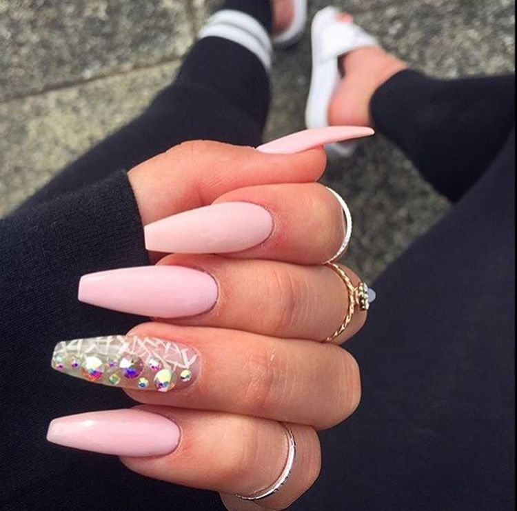 Follow Me Cold Princess For More Baddie Pins Plain Nails Coffin Nails Long Coffin Nails Ombre