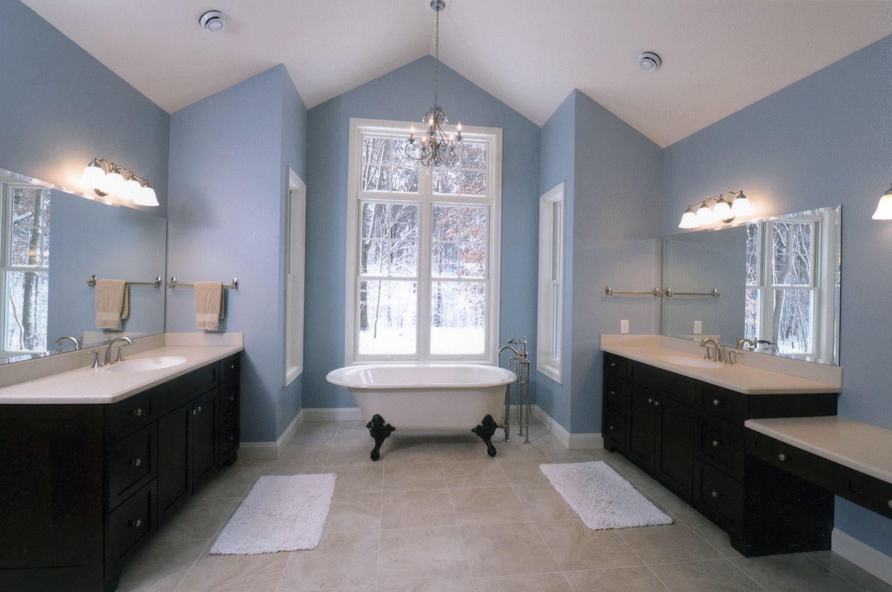 Bathroom Color Pallet Dark Or Black Vanity Light Floor Sky Blue Walls Blue How To Prop Blue Bathroom Decor Brown Bathroom Decor Blue Bathroom