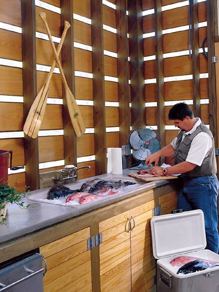d468c27fbd4858a45216a424b9f20e79 fish cleaning table google search kitchen pinterest,Fish Cleaning House Plans