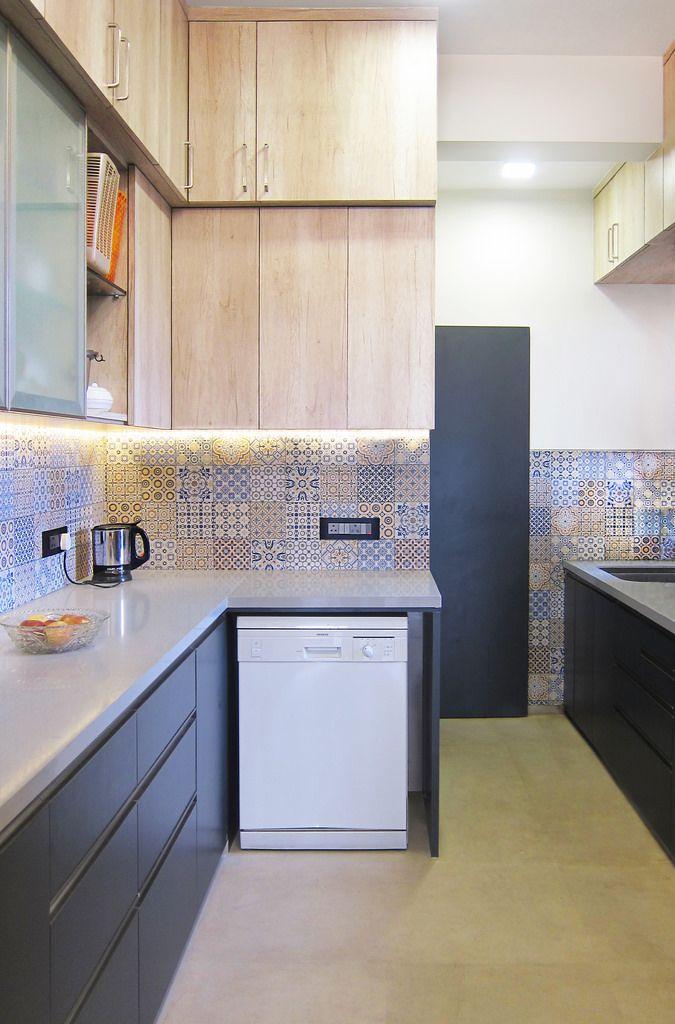 A Travel Inspired Apartment In Mumbai Dress Your Home Kitchen Design Kitchen Furniture Design Interior Kitchen Small