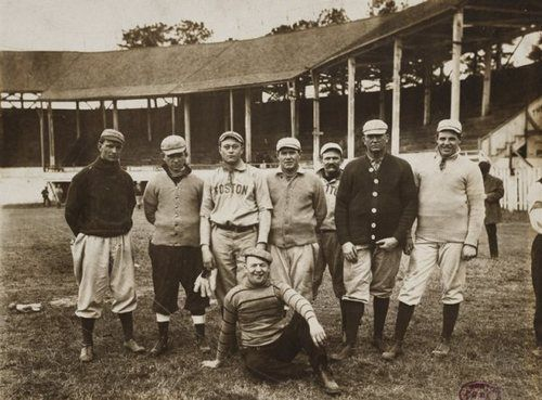 Players at Boston Red Sox Spring Training in Little Rock Arkansas - 1910s