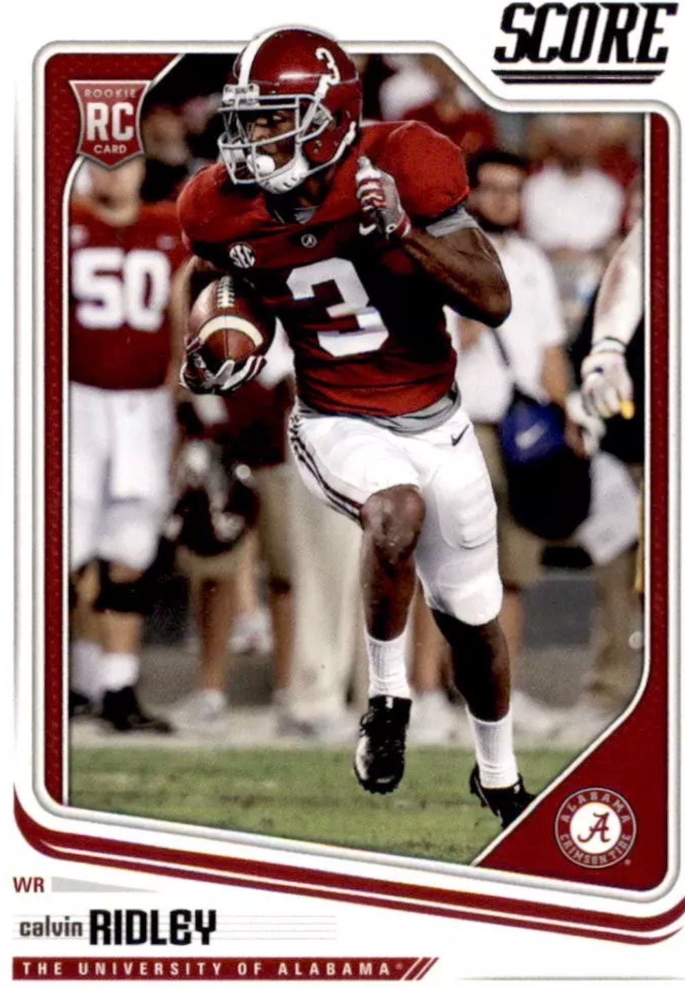 Calvin Ridley Nfl 2018 Rookie Card From Score Alabama Rolltide Bama Builtbybama R Alabama Crimson Tide Football Crimson Tide Football Alabama Crimson Tide