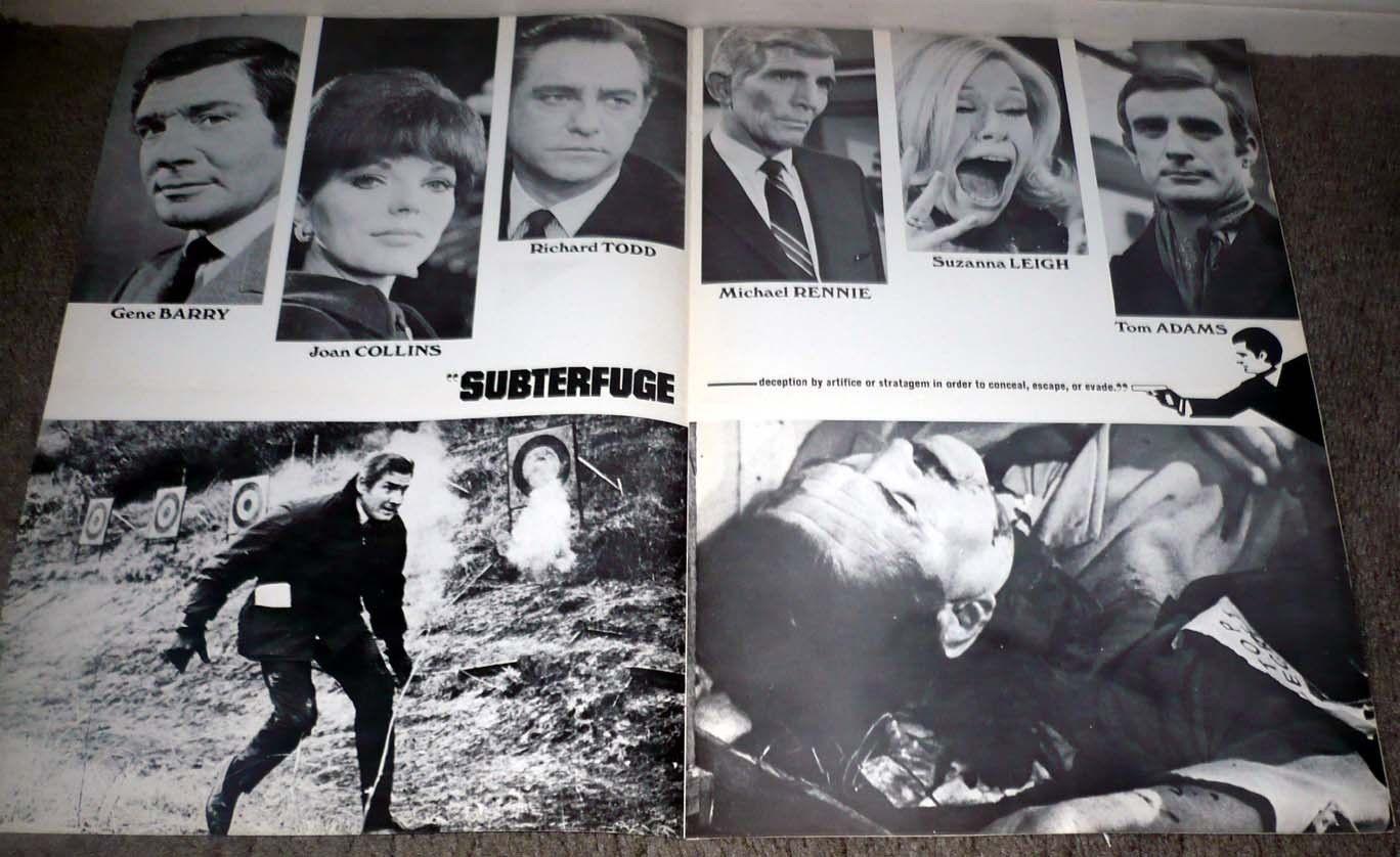 SUBTERFUGE original 1968 pressbook JOAN COLLINS/SUZANNA ...