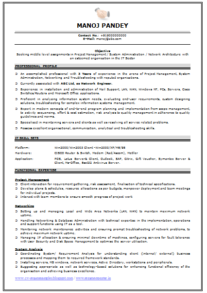 Network Engineer Resume Format Engineering Resume Engineering