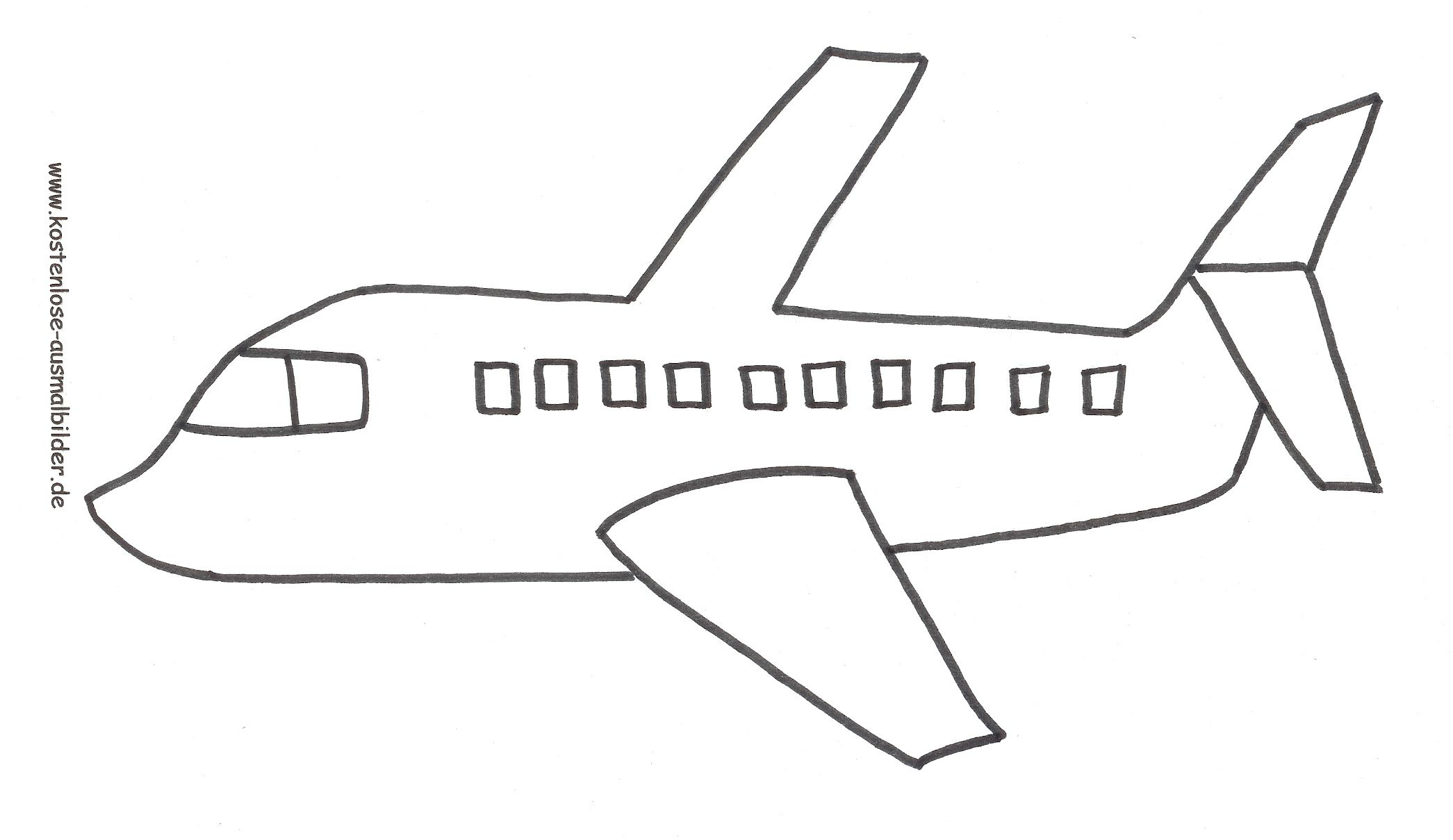 flugzeug malvorlage 06 | 18 Geburtstag | Pinterest | Flugzeug ...